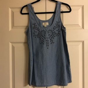 Lucky Brand chambray tank top